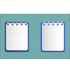 Set of notepads is blue in two variants vector image