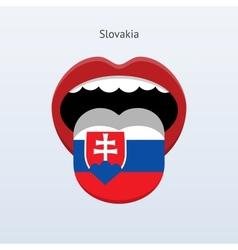 Slovakia language Abstract human tongue vector