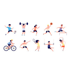 sport children cartoon dance girls child vector image