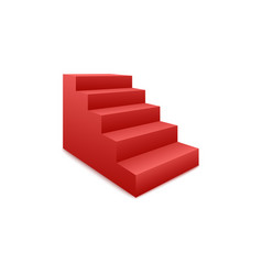 stairs award ceremony podium or pedestal side view vector image