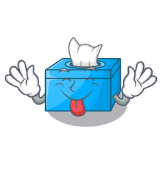 Tongue out tissue box isolated on the mascot vector