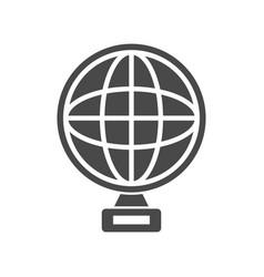 Trophy icon globe shape vector