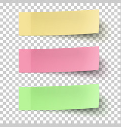 yellow red and green sticky notes isolated vector image