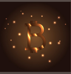 B letter logo icon element bitcoin vector