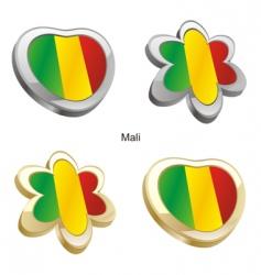 flag of Mali vector image vector image