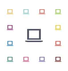 laptop flat icons set vector image