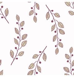 Seamless pattern background with branch vector image vector image