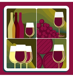 Wine production vector image