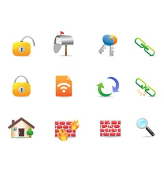 collection of colorful Internet Web Icons vector image vector image