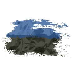 Estonian flag painted by brush hand paints Art vector image