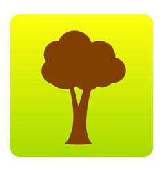 tree sign brown icon at vector image vector image