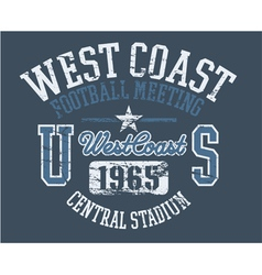 West Coast Athletics vector image vector image
