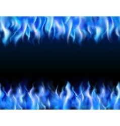 Blue Fire Tileable Borders vector image