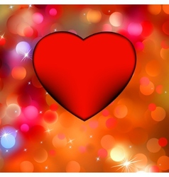 Heart bokeh frame with space EPS 8 vector image