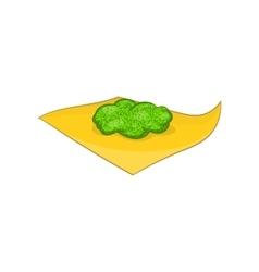 Marijuana on a paper icon cartoon style vector image vector image