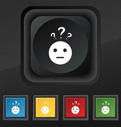 question mark and man incomprehension icon symbol vector image vector image