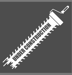 under construction white icon vector image