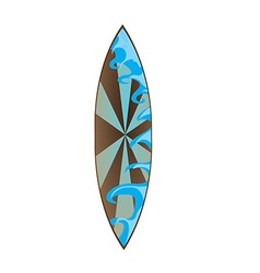 Isolated Surfboard vector image