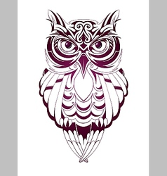 Owl tattoo vector image vector image