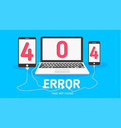 404 error page not found flat vector image