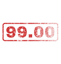 9900 rubber stamp vector image vector image