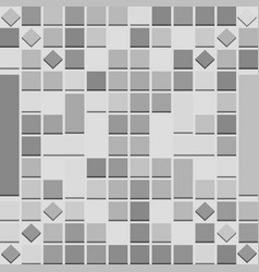 Abstract background with 3d squares in grey scale vector