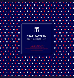 Abstract red and white star pattern on blue vector