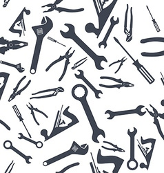 Abstract Seamless Hand tools pattern vector