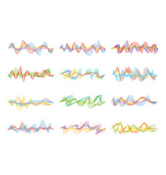 abstract shapes and graphic waves for music vector image