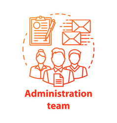 Administration team concept icon organization vector