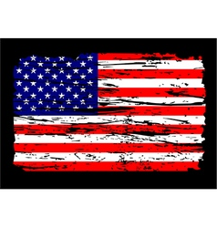 American flag grunge independence 4th july vector