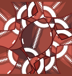 american football sport balls background vector image