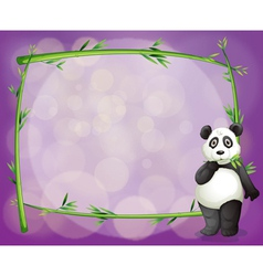 An empty frame with a panda vector image