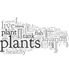 Aquarium plant care vector