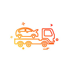 auto insurance car tow truck icon design vector image
