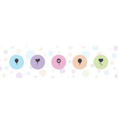 Ballon icons vector