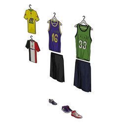 basketball jersey on white background vector image
