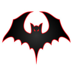 Bat with wings spread logo vector