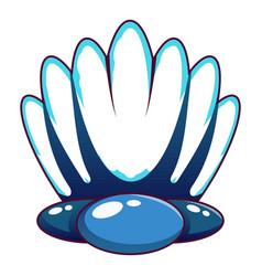 big shell icon cartoon style vector image