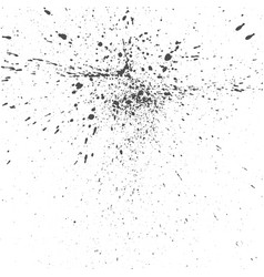 black ink drops grunge texture vector image