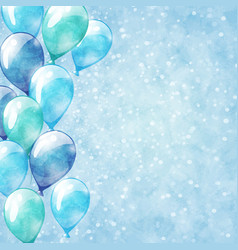 Blue balloons background vector