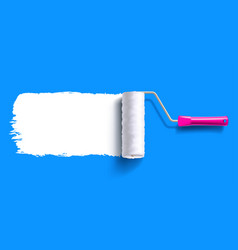 Brush roller brush vector