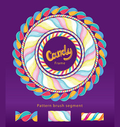 Candy frame set vector