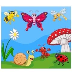 Cartoon small animal vector image