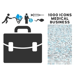 Case Icon with 1000 Medical Business Symbols vector image
