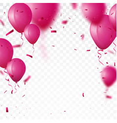 celebration background with beautiful balloon vector image