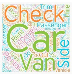Checks carried out by rental companies text vector