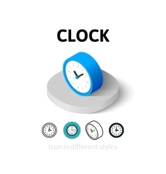 Clock icon in different style vector image