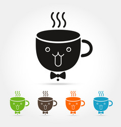 coffee cute cup logo vector image