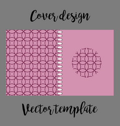cover design with pink japanese pattern vector image vector image